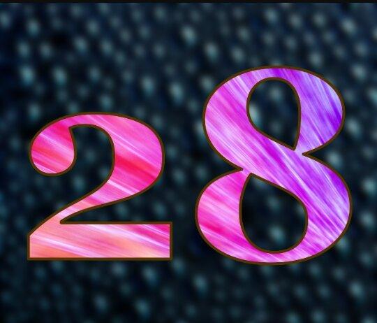 Открытка с цифрой 24