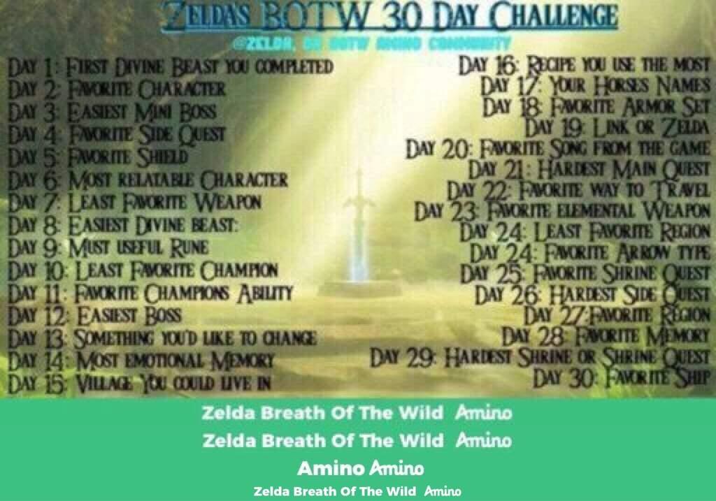 Botw 39 day challenge-Day 8 | Zelda Breath Of The Wild Amino
