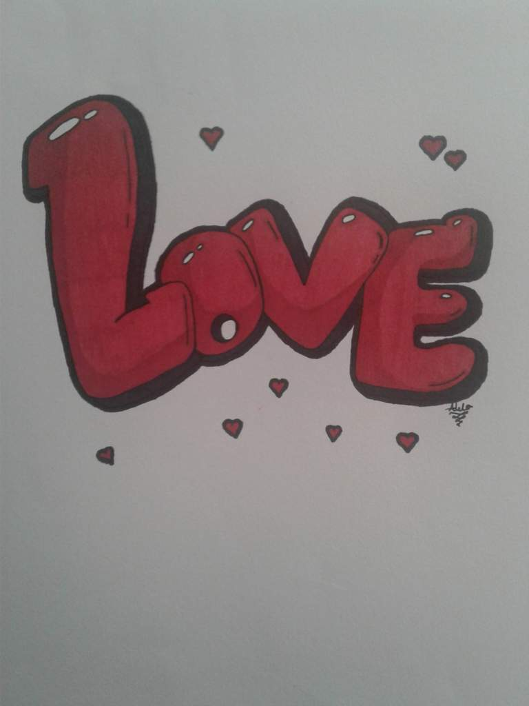 The Word Love In Graffiti Bubble Letters Drawing Arts
