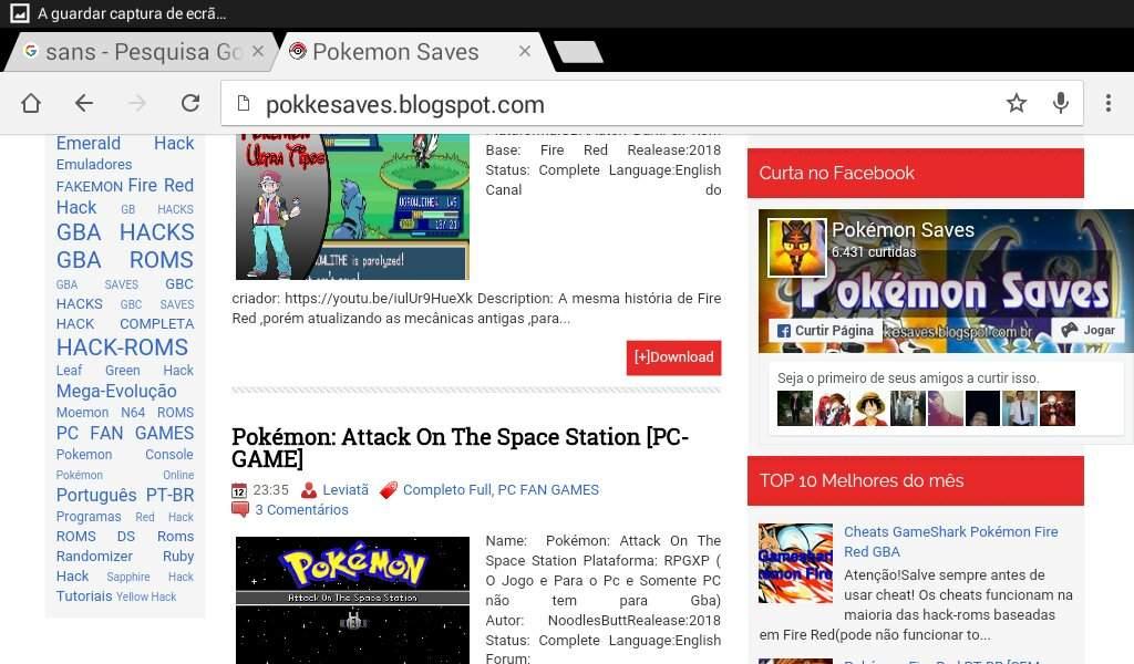 Melhor local para baixar jogos pokemons (hack rom fan game