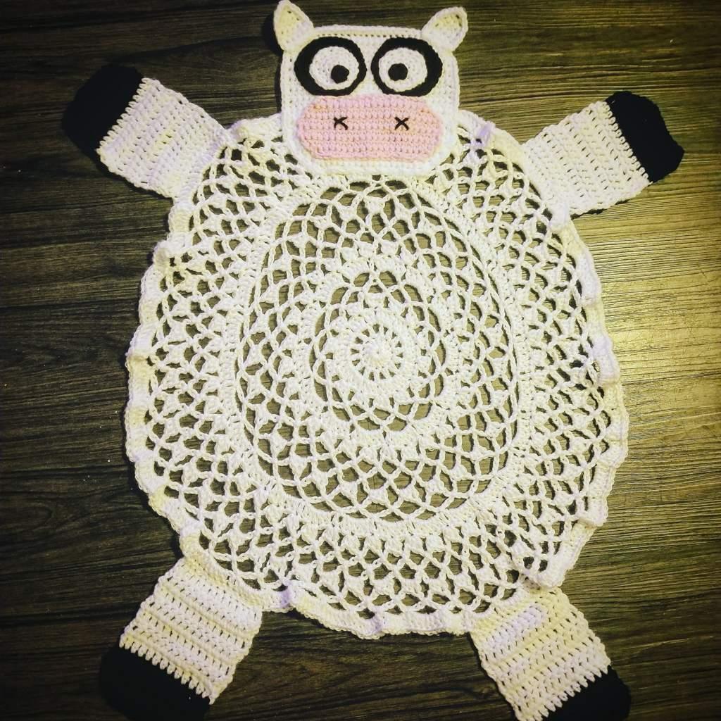Crochet Cow Rug | Crafty Amino