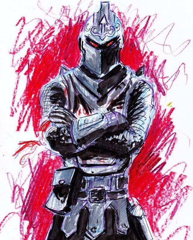 How to Draw Black Knight Fortnite Art Tutorial Drawing