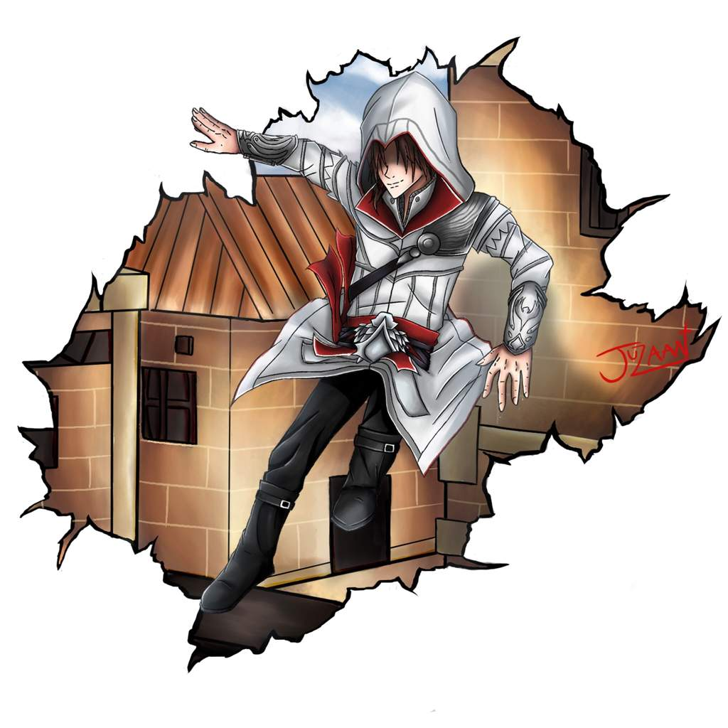 Ezio Auditore Design Assassins Creed Anime Art Amino