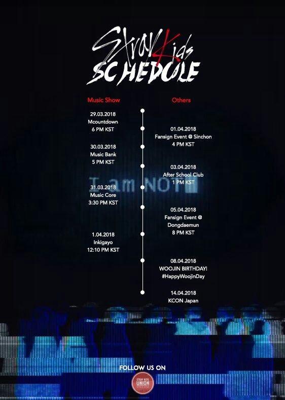 Stray Kids Schedule