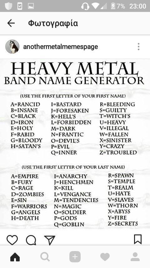 Generator black metal name ModBlackmoon