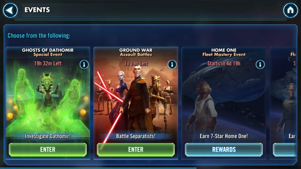 Swgoh - 2 events active now | Star Wars Amino