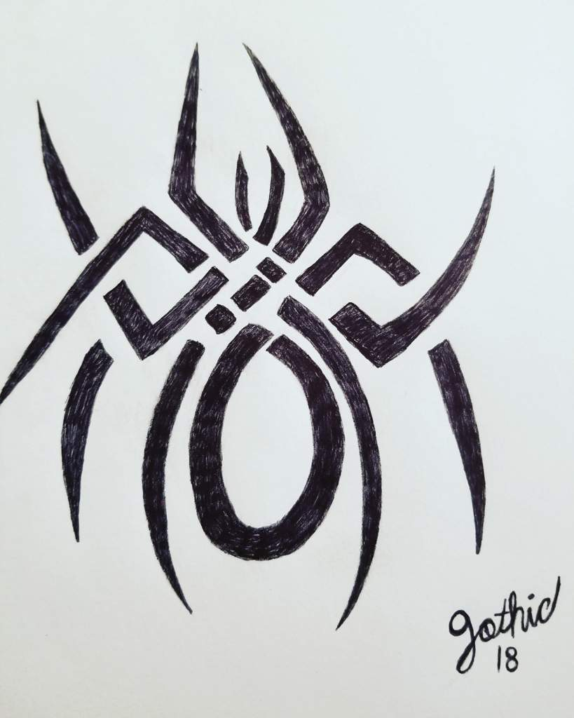 Tribal Spider Tattoo Design Art Amino