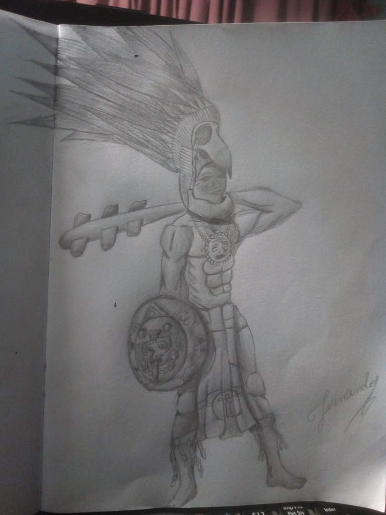 Dibujo Mezcla De Guerrero Azteca Y Maya Dibujarte Amino