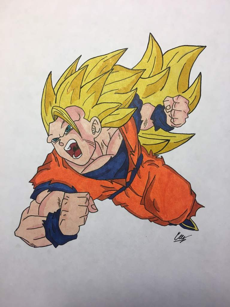 goku super saiyan 3 drawing dragonballz amino