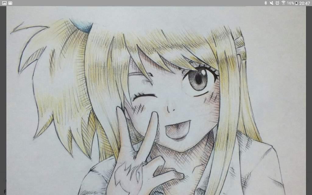 Ca C Est Le Dessin Au Crayon A Papier De Lucy Que J Ai Fait Il Y A Deux Ans Beaucoup De Defauts Fairy Tail Fr Amino
