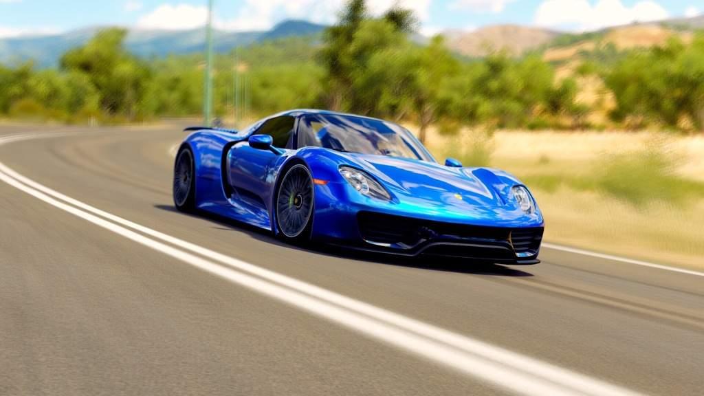 Sapphire Blue Porsche 918 Spyder