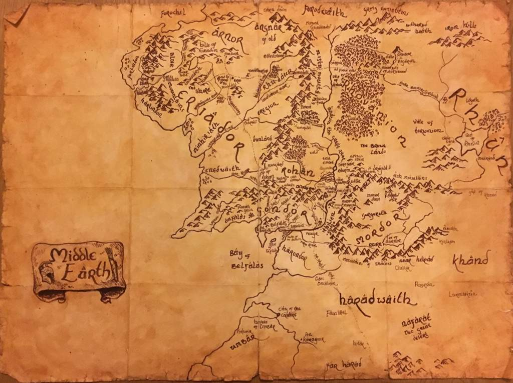 My Middle Earth Map Lotr Amino