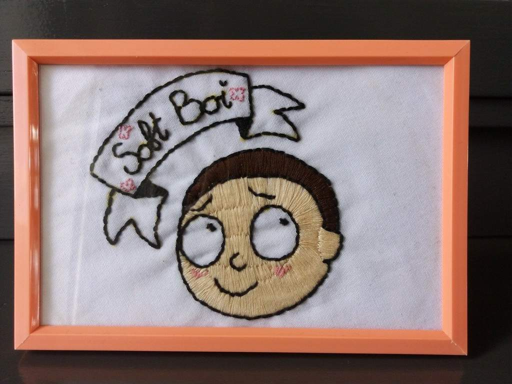 9255e540b A morty embroidery piece I did (and sold) a little while ago | Rick ...