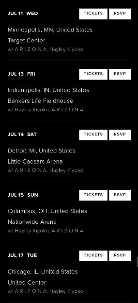Pray four the wicked tour dates and details panic press article from httpspanicatthediscotour m4hsunfo