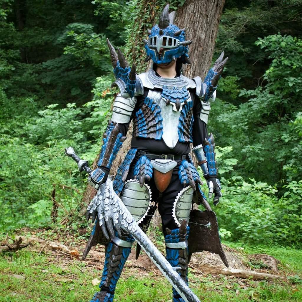 Azure Rathalos Armor Monster Hunter Amino