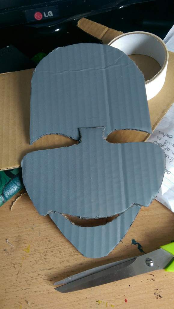 Halloween Clown Mask Michael Myers.Cardboard Michael Myers Clown Mask Display Piece Horror Amino