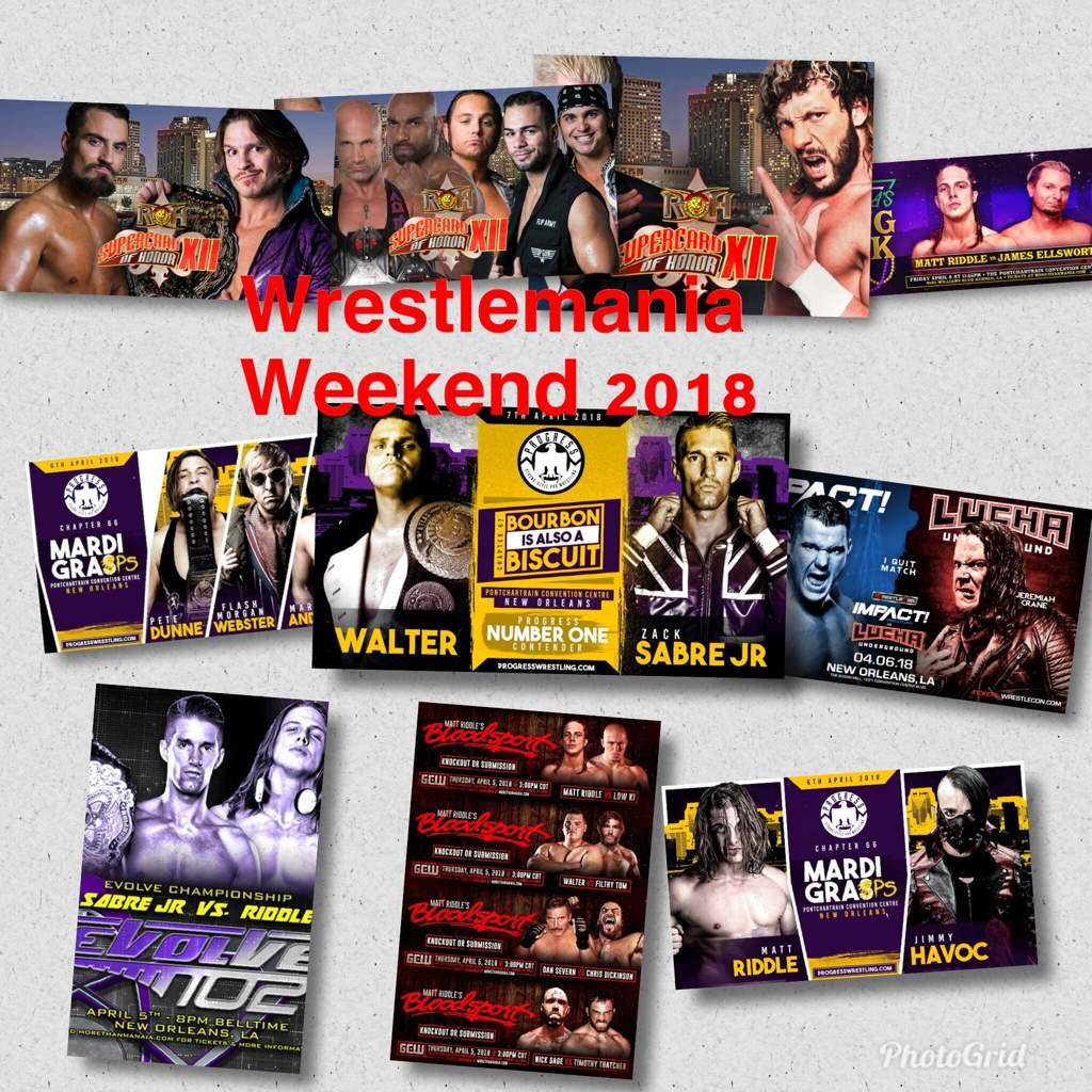 Программа мероприятий инди-сцены на неделе WrestleMania. Обновления: добавлено видео и результаты за 5, 6 и 7 апреля