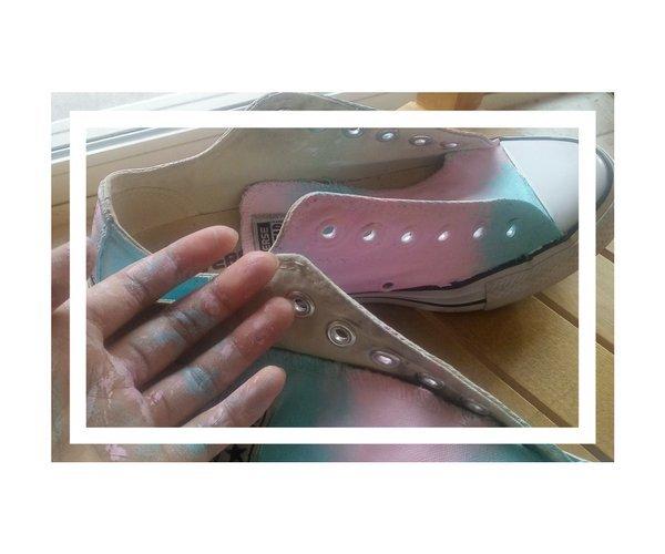 Seventeen Kpop *hand painted* shoes