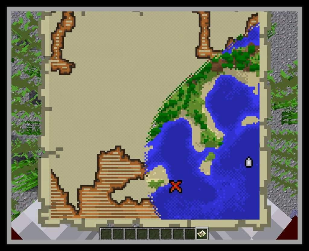 Mapa Del Tesoro Minecraft.Tutorial Aprende A Localizarte Y Viajar Con Los