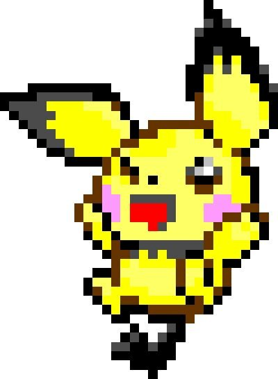 Petit Pixel Art Du Mignon Pichu Pokémon Amino