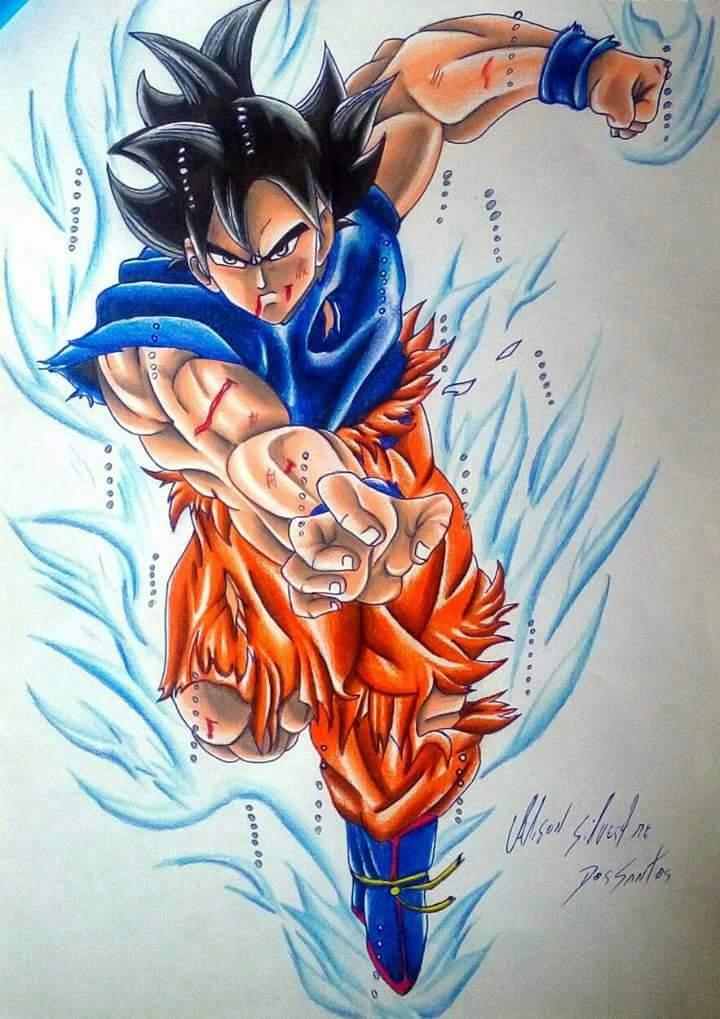 Desenho Do Goku Instinto Superior Dragon Ball Rpg Amino