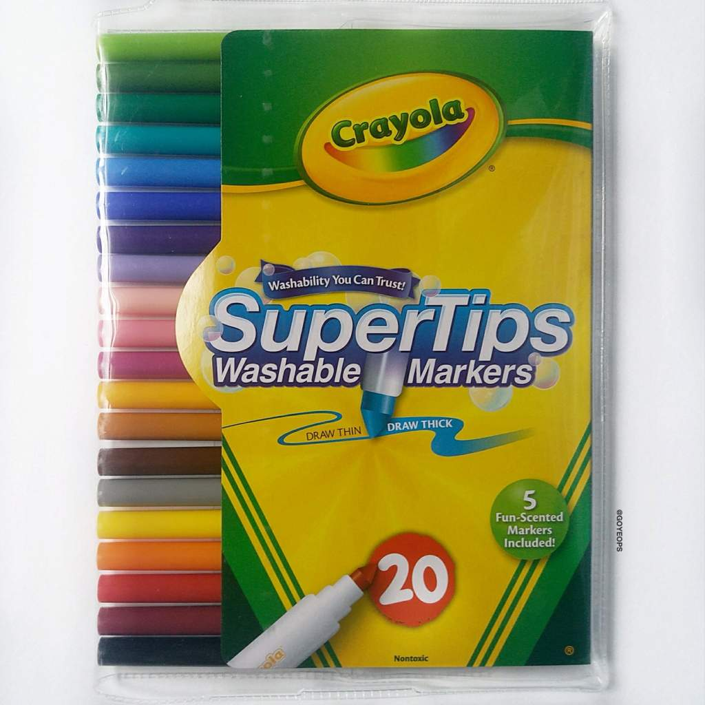 Crayola Supertips Swatches Review Bullet Journal Amino