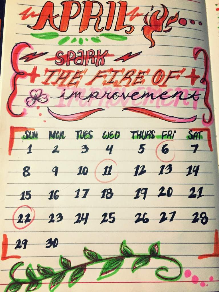 April theme: 🔥Spark the Fire of Improvement🔥 | Studying Amino Amino