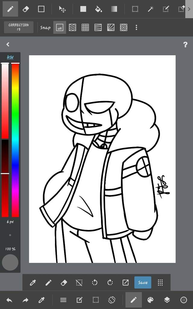 I Practiced To Drawing On Medibang Paint Wip Undertale Aus Amino