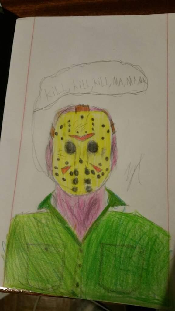 Bem Isto Foi Uma Tentativa De Desenhar O Jason Voorhees Mas