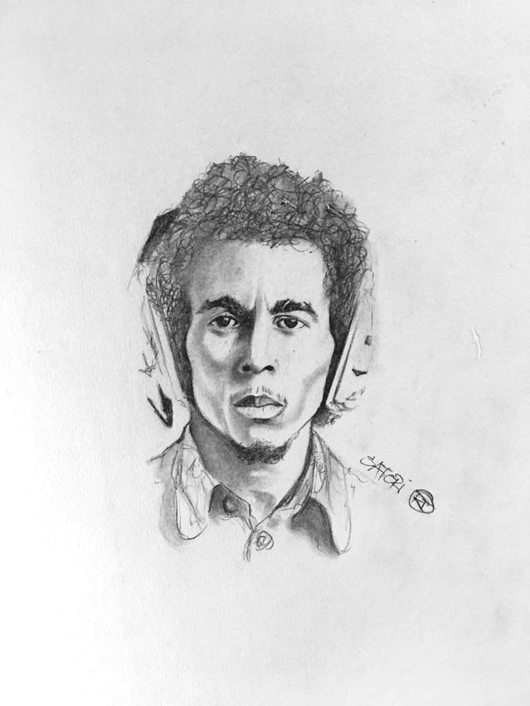 Bob marley pencil sketch art amino