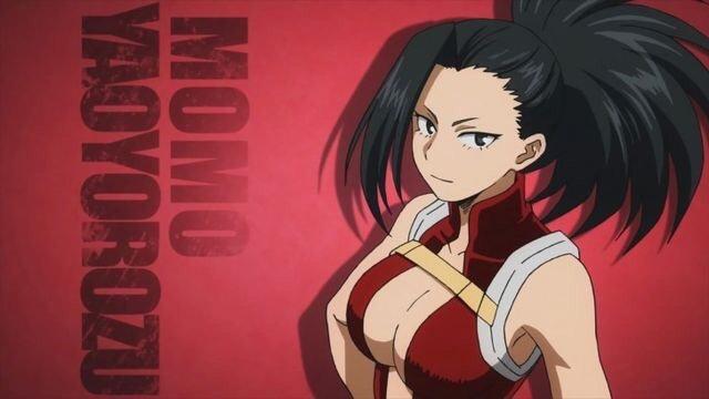 Resultado de imagem para yaoyorozu momo screenshot