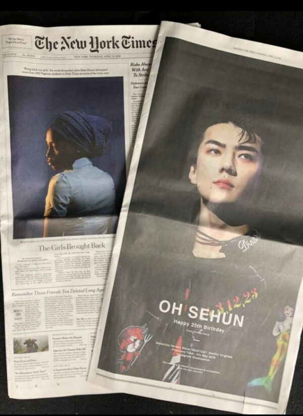 Sehun Photos From Exo On New York Times Magazine And New York Times