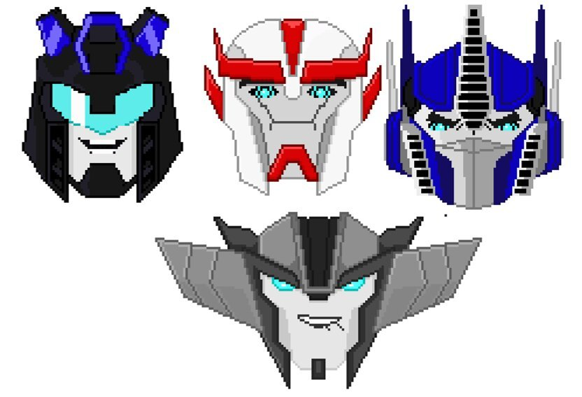 More Pixel Faces Transformers Amino