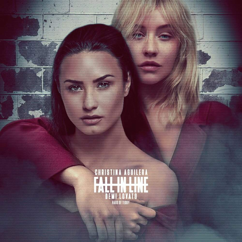 Fall in line album cover