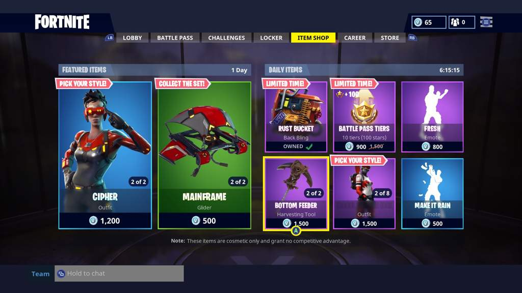 - item shop today on fortnite