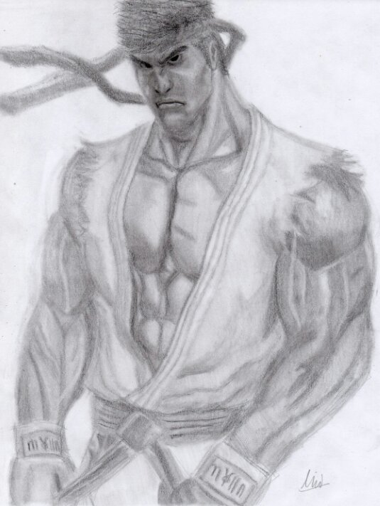Ryu Realistic Drawing Street Fighter Video Games Amino