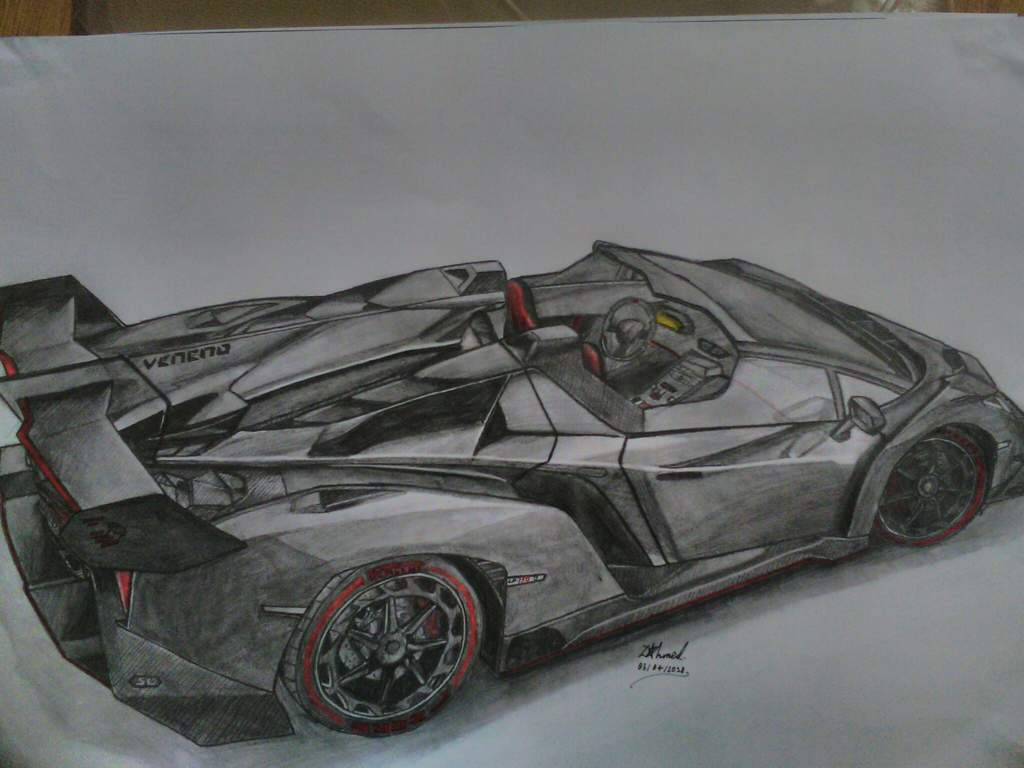 Lamborghini Veneno Roadster Drawing