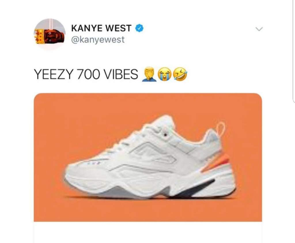 """best website 2c433 cc763 Kanye West, however, has responded to the M2K Tekno with a """"YEEZY 700  VIBES"""" tweet, suggesting this """"new"""" shoe is heavily inspired by his Yeezy  Boost 700."""