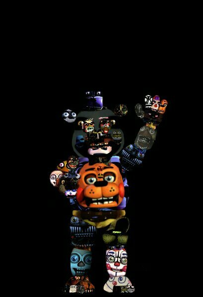 Demon Freddy Toys : Toy freddy but made out of loads animatronics five