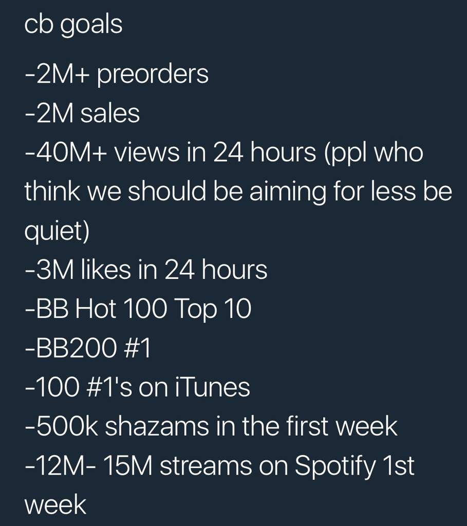 Bts Lytear Album Preview Goals Armys Amino Itunes 500k Add Funds Lets Do Our Best