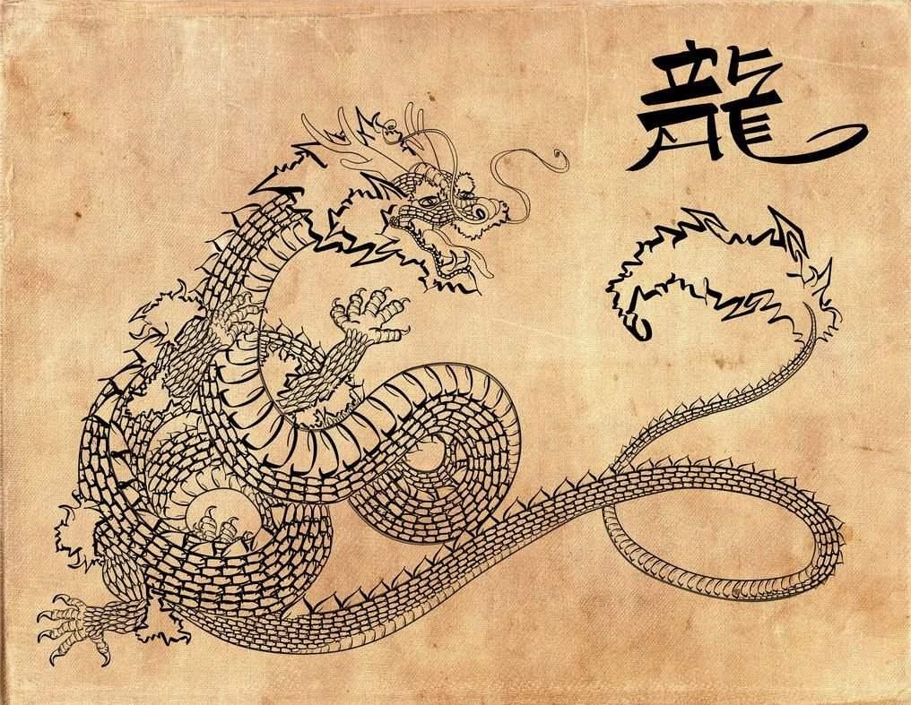 древний китай картинки дракона плод плот