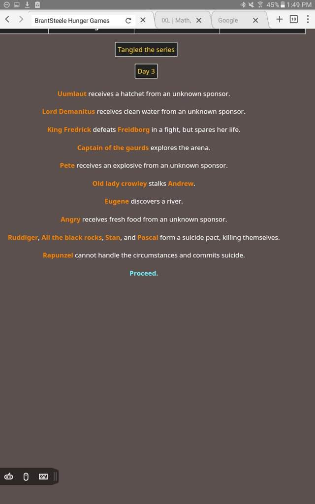 The hunger games simulator with TTS characters | Tangled The Series ...