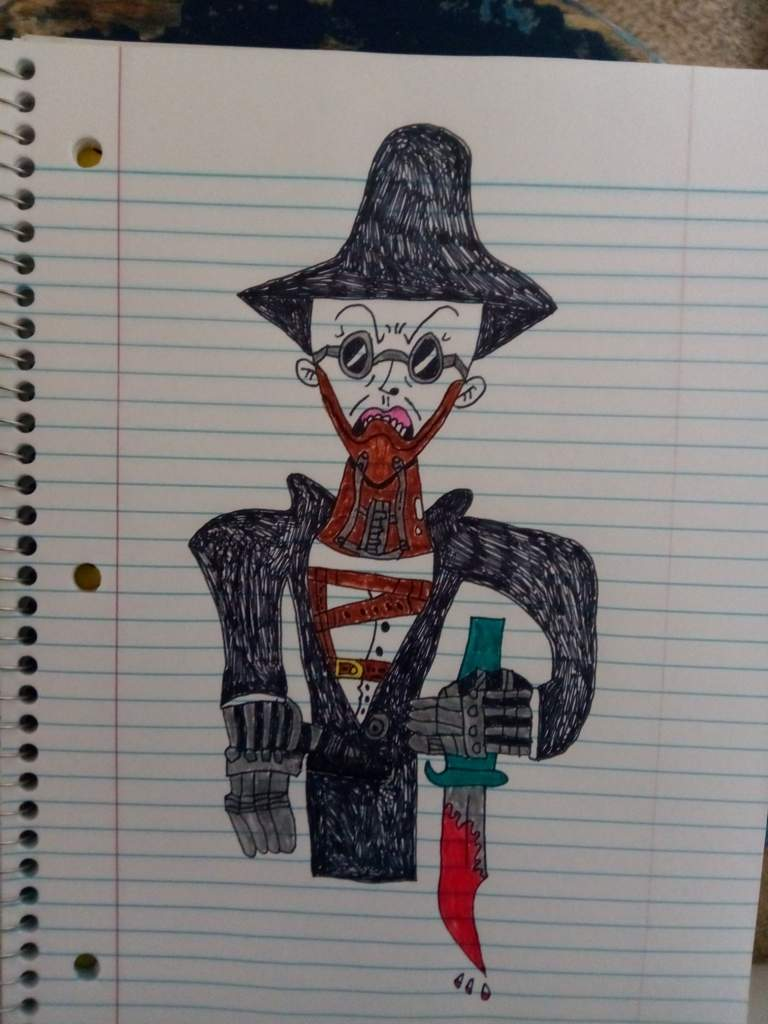 Drawing Horror Movie Characters From A Long Long Time Ago