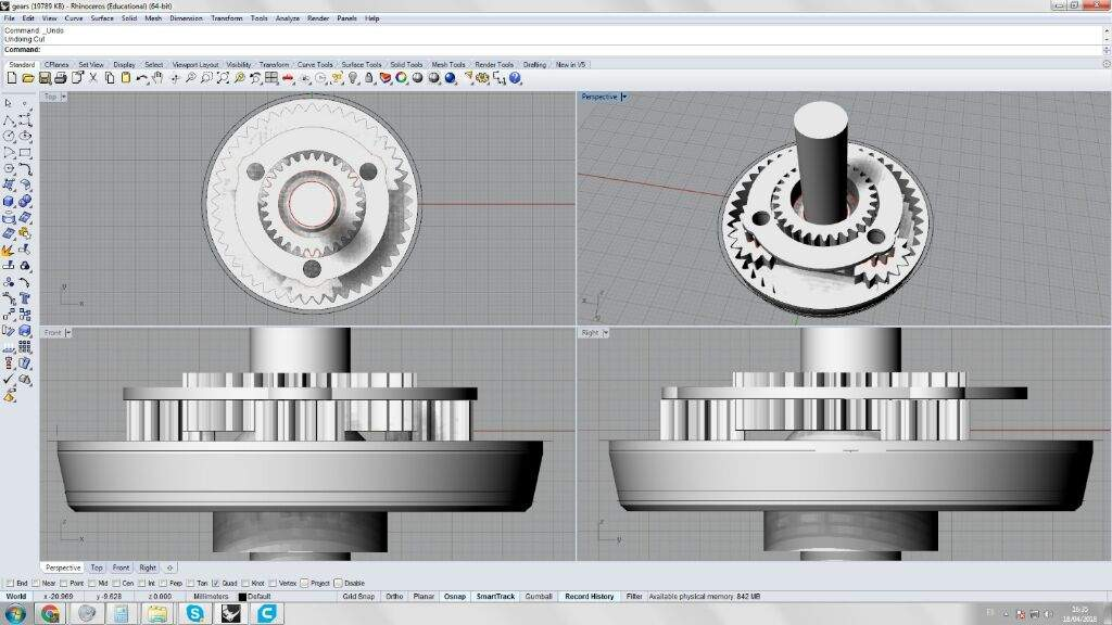 11 ratio planetary gear part 1 maker amino designed by me using planetary gear designer and gear template generator 3d modeled in rhino 3d and printed on my creality3d cr 10 and my anet a8 maxwellsz