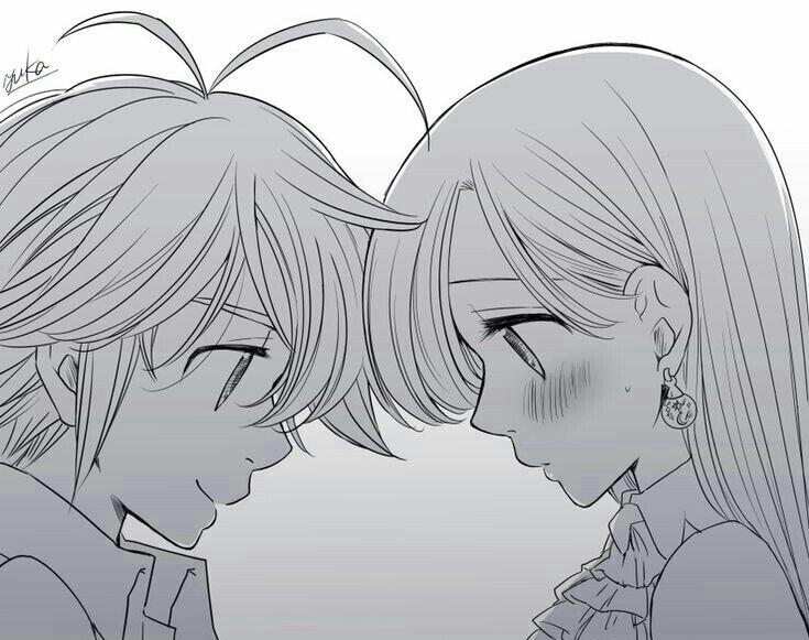 Fanart Meliodas E Elizabeth Nanatsu No Taizai Amino