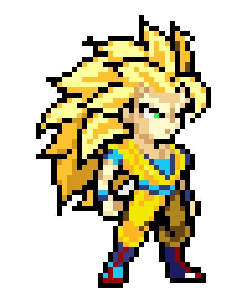 Pixel Goku Ssj3 Drawing
