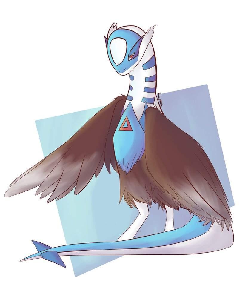 Triple Fusion Latios Lugia Staraptor Pokemon Art Drawing