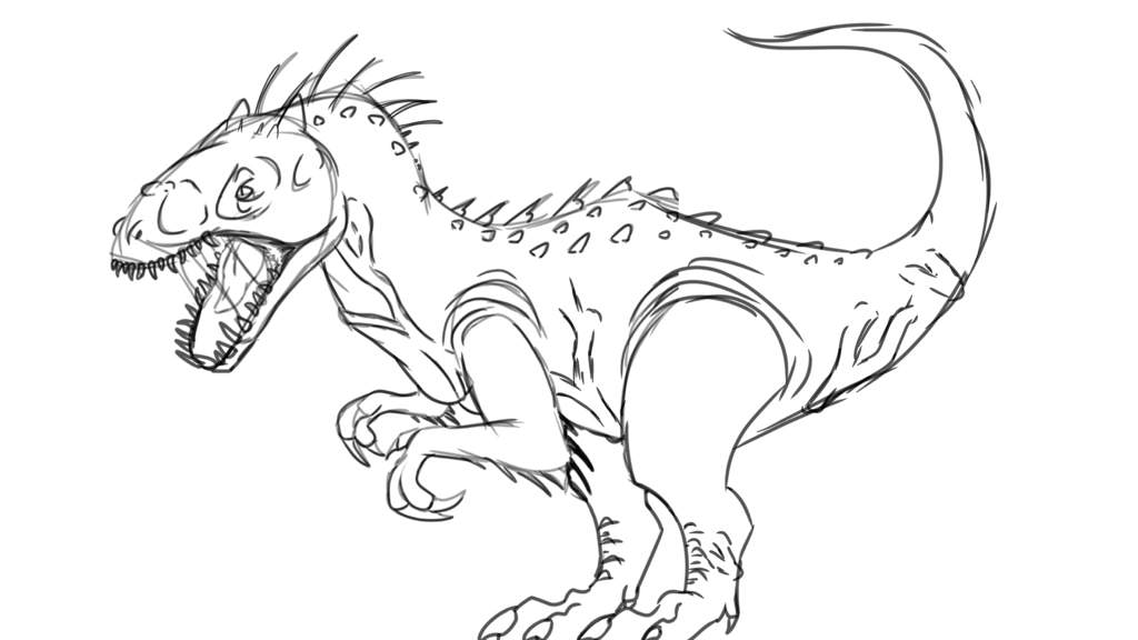 Indominus Rex Dinosaur Coloring Pages Coloring And Drawing
