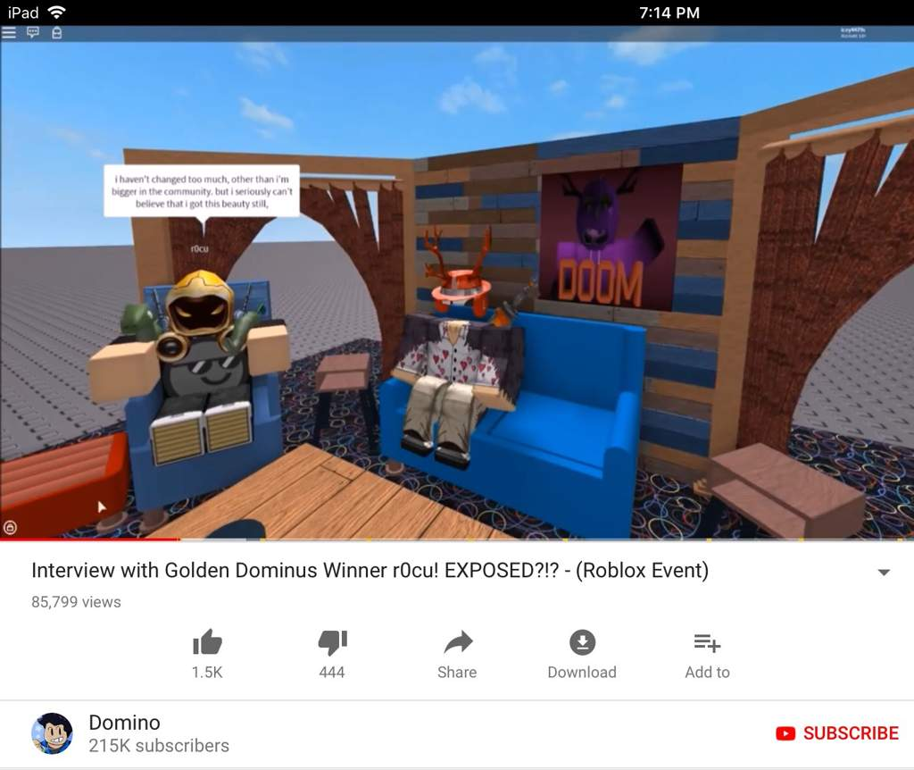 Golden Dominus Id Roblox Domino Trying To Make R0cu Look Bad Roblox Amino