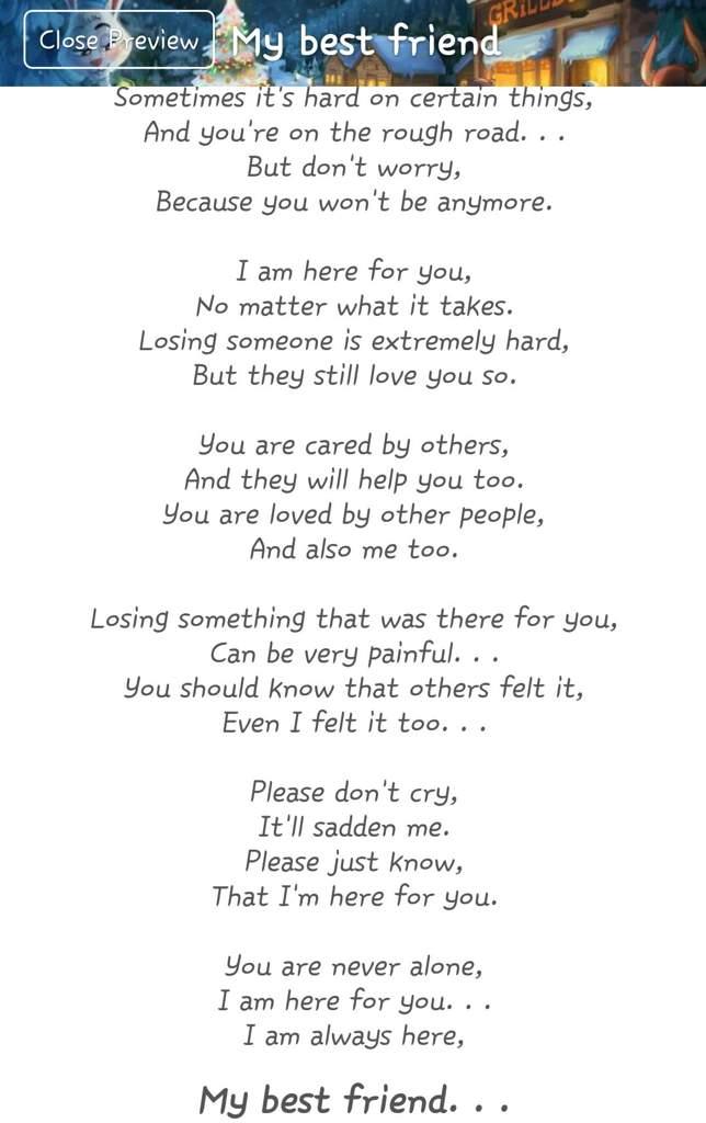 My Best Friend Short Asriel Poem Undertale Amino